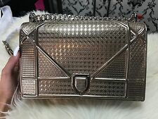 "CHRISTIAN DIOR ""DIORAMA"" CHAIN BAG CHAMPAGNE METALLIC"