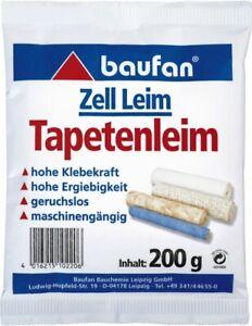 Baufan Tapetenleim 200 g Zell-Leim Tapetenkleister Tapetenkleber Kleister Leim