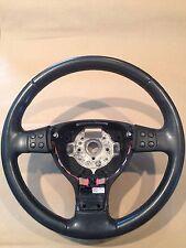 Genuine VW OEM Black Leather Wrap Steering Wheel (P/N 1K0 419 091 ER USZ)