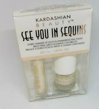 Kardashian Khroma Beauty See You in Sequins Lip Gloss & Nail Polish-Crystal #350