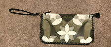 Michael Kors Green Leather Suede Floral Patchwork Large Wristlet NWOT