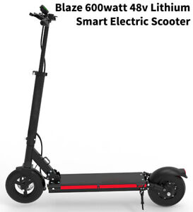Blaze 600 watt 48v Lithium Smart Electric Scooter. Super lightweight. 28+ mph