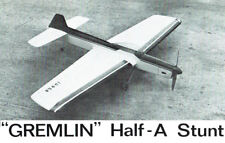"Model Airplane Plans (UC): GREMLIN 33½"" ½A Stunter by Tom Dixon"