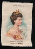 VINTAGE NEBO TOBACCO CIGARETTE SILK QUEEN HELENA of ITALY - EXCELLENT Condition
