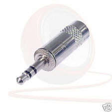 3.5mm Rean NYS231 Straight Stereo Mini Jack Connector. Silver AUX Headphone Plug