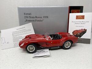 1/18 CMC 1958 Ferrari Testa Rossa Pontoon Fender Red M-071 RARE