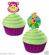FUN PIX MONKEY GIRAFFE TOPPER FAVORS CAKE CUPCAKE PICKS ZOO JUNGLE ANIMALS PALS
