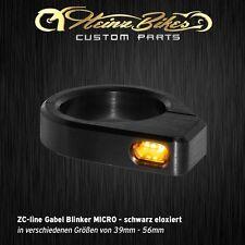 Heinzbikes ZC-line LED tenedor intermitentes micro - 41 mm-39 mm, negro