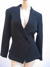 Womans Black Jacket Vintage 80s By Kasper For ASL Size Med