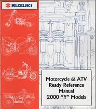 2000 Suzuki Motorcycle & Atv Ready Reference Y Manual