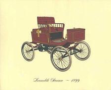 Antique Car 1899 Locomobile Steamer Color Lithograph Vintage Automobile Print