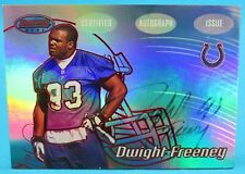 Dwight Freeney Auto on Card Bowman's Best Certified Auto Issue Topps 2002 4/199