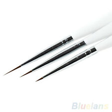 ALS_ 3Pcs Practical Acrylic French Nail Art Liner Painting Drawing Pen Brush Too