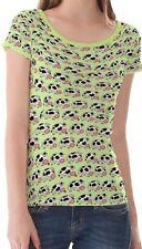 Waist Length Cartoon Basic T-Shirts for Women