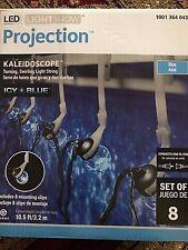 Gemmy LED Lightshow 8 Light Blue Round Projection Swirling String Lights w/ Clip