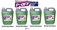 4 X 5L P-OFF PET URINE SMELL ODOUR REMOVER- WEE FAECES POO CAT DOG - FRESH GRASS