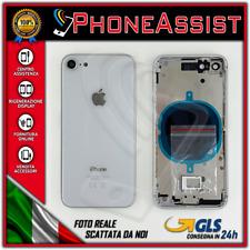 TELAIO SCOCCA POSTERIORE iPhone 8 BACK HOUSING 8G Argento/Bianco (Silver/White)
