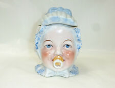Unusual Porcelain Container around 1880 by Law Protected Tin Head Child Dummy B7