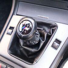 für alle BMW Schaltsack Schaltmanschette SCHWARZ Kunstleder Universal