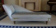 Vintage Petite Ideal Princess Fantasy Furniture Dollhouse Blue Lounge Chair