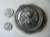 Antique Art Nouveau Silver Woman Crochet Steel Bead Tam O Shanter Coin Purse #4