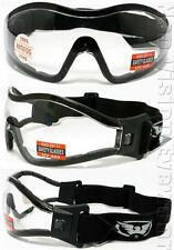 Global Vision Z33 Clear Anti Fog Padded Motorcycle Sport Goggle Safety Z87+