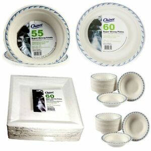 Super Strong High Quality Chinet Disposable Party Wedding Plates / Bowls