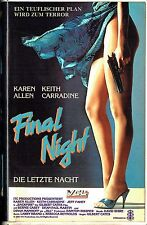 (VHS) Final Night - Die letzte Nacht - Karen Allen, Keith Carradine, Jeff Fahey
