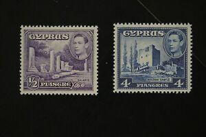 Cyprus #164 + #164 two 1938 KGVI VF MNH stamps (k192)