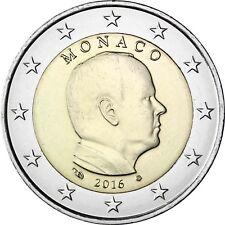 Monaco 2 Euro 2016 Fürst Albert II Grimaldi Kursmünze