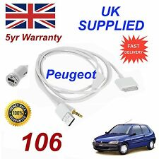 Peugeot 106 3gs para Apple iPhone 4 4s Ipod y 1.0 A Adaptador de corriente blanco