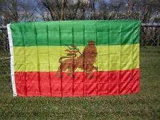 Old Ethiopian Flag 3x5 ft Ethiopia Lion of Judah Rastafarian Rasta H Selassie