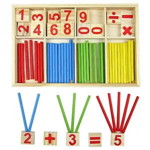 Enfant Bébé Jouet Éducatif Puzzle Casse-Tête Nombre Bloc de Construction Bois BB