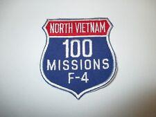 b4836 US Air Force Vietnam F4 Phantom 100 Missions North Vietnam Patch IR21F
