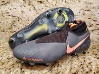 Nike Phantom Vision Elite DF SG-Pro AC M AO3264-080 Soccer Cleats Grey SZ 10
