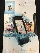 LIFEPROOF NUUD CASE FOR APPLE iPhone 5C WATERPROOF GENUINE BLACK CLEAR NEW