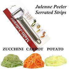 NEW Julienne Peeler Serrated Vegetable Peeler Peels in Strips Stainless Steel