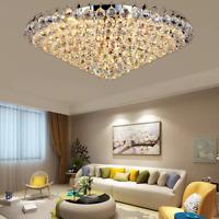 """Modern K9 Crystal Chandelier Flush Mount Home Ceiling Lighting Dia 23.6""""/31.5"""""""