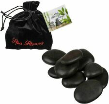 9 Pcs Hot Stone Massage Basalt Stones Rock Heat Therapy Body Relax SPA 10x10x2cm