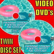 Teach Your Toddlers & Kids à natation + Be Safe en eau NEUF DVDX2 swimmming