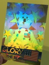 Ty Beanie Babies Trading Card Glory The Bear Hologram, Series 2