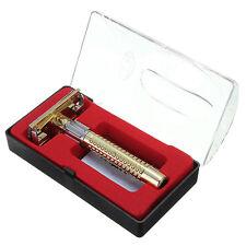Men's Safety Handheld Manual Shaver +Double Edge Safety Razor Blade Men New.Pro