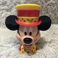 Disney on Ice Mickey Mouse Ringmaster Top Hat Mug with Flip Top Plastic Lid Cup