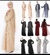 Woman's duabai Summer Abaya Seamless Sequence Veste