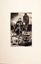 Arthur Kampf /Radierung aus der Mappe/Shakespeare /Hamlet