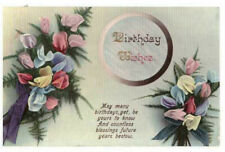 Birthday Wishes Rare Vintage Postcard Posted C.1914