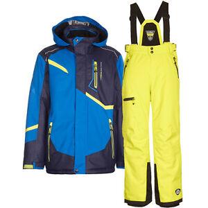 Kinder Skianzug blau Skihose limette Gr. 140 Schneeanzug Wintersport Killtec