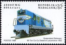 QUEENSLAND RAILWAYS (Australia) Clyde Class 1400 No.1402 Diesel Train Stamp