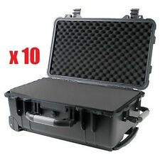 "(10x) 22"" Weatherproof Marine Rolling Case Drone Camera Gun / Pelican 1560 Pluck"