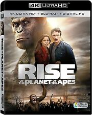 RISE OF THE PLANET OF APES (4K ULTRA HD) - Blu Ray -  Region free